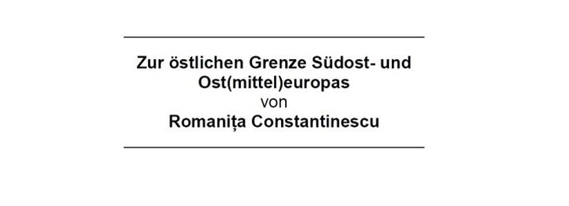 Vortrag von Romaniţa Constantinescu an der Universität Wien
