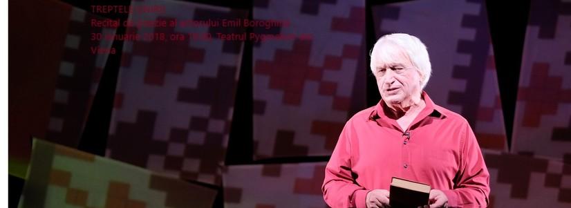 Treptele Unirii – recital de poezie al actorului Emil Boroghină  la Teatrul Pygmalion din Viena