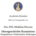 """""""Nach Europa: Kulturideologische Kontroversen nach dem EU-Beitritt Rumäniens"""" –  Vortrag von Dr. Mădălina Diaconu"""