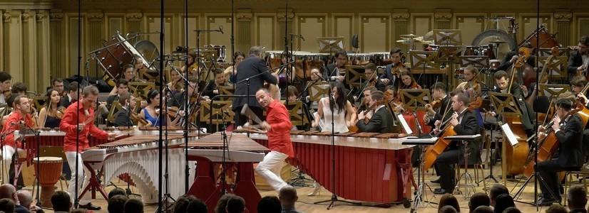 Sonderkonzert des Nationalen Jugendorchesters Rumäniens mit dem Wave Quartet im Großen Saal des Wiener Musikverein