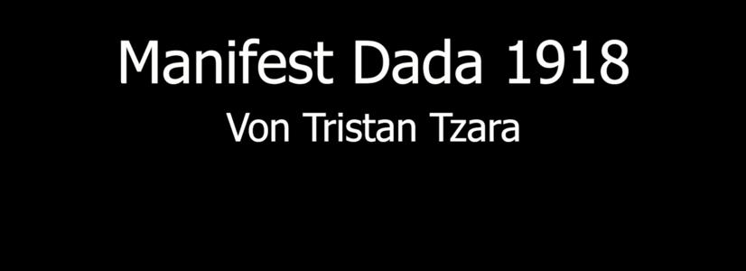 Literarisches Projekt: Tristan Tzara, der Dada-Aufrührer