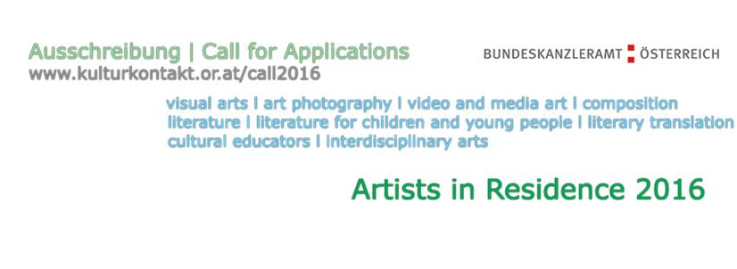 Înscrieri pentru programul Artist-in-Residence 2016