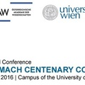 """Iulian D. Toader @ """"Ernst Mach Centenary Conference"""" 2016"""